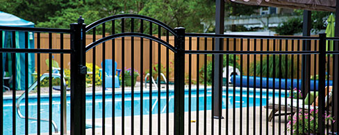 Active Yards Aluminum Fence Granite