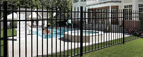 Active Yards Aluminum Fence Marble