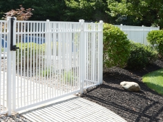 Active Yards Aluminum Fence Travertine Harbor Series