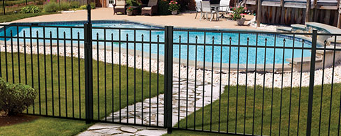 Active Yards Aluminum Fence Amethyst
