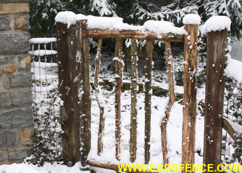 Ohio Fence Company Eads Fence Co Rustic Cedar Log Gates