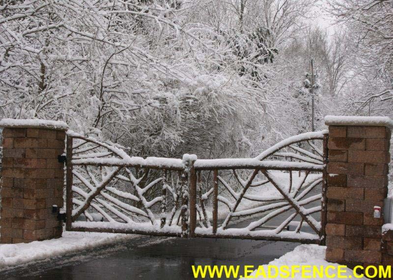 Ohio Fence Company Eads Fence Co Rustic Cedar Log Gates