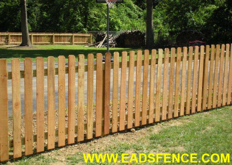 Cedar Dog Ear Picket Fence