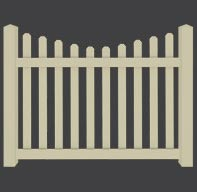 Ohio Fence Company Eads Fence Co Silverbell Scallop