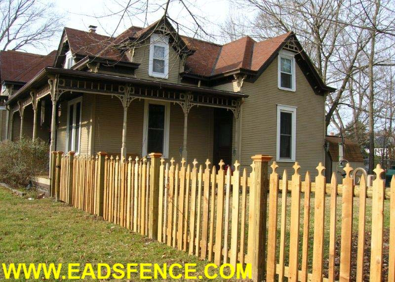 Ohio Fence Company Eads Fence Co Victorian Picket Fence
