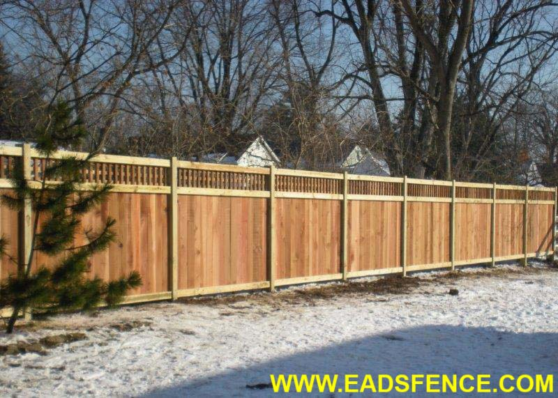 Ohio Fence Company Eads Fence Co Lattice Top Privacy