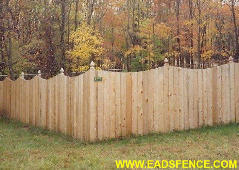 Air Conditioner Rental >> Ohio Fence Company | Eads Fence Co.. Scallop Privacy Fences