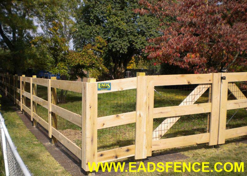 how to build a three board fence