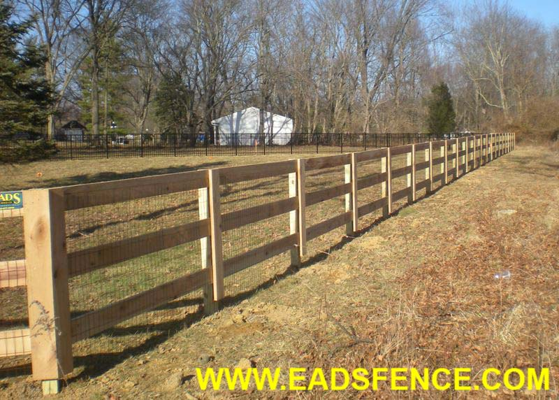 Ohio Fence Company Eads Fence Co 3 Rail Board Fence