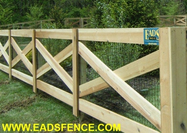 Picture of 4 Rail Crossbuck Fence Photo Gallery