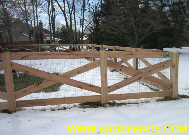 Ohio Fence Company Eads Fence Co 4 Rail Crossbuck