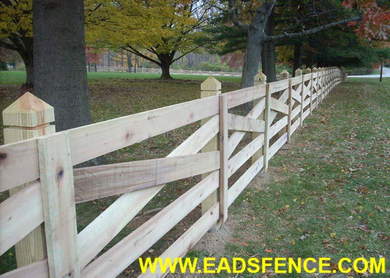 Ohio Fence Company Eads Fence Co 5 Rail Crossbuck