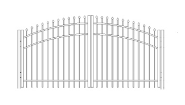 Picture of S1 Bennington Greenwich Arched Double Gates Drawing