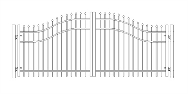 Picture of S1 Bennington Woodbridge Arched Double Gates Drawing
