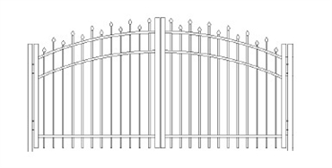 Picture of S2 Berkshire Greenwich Arched Double Gates Drawing