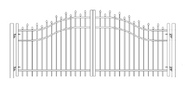 Picture of S2 Berkshire Woodbridge Arched Double Gates Drawing