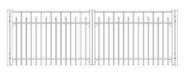 Picture of S3 Essex Double Gates Drawing