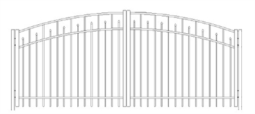 Picture of S3 Essex Greenwich Arched Double Gates Drawing
