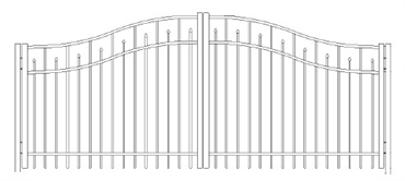 Picture of S3 Essex Woodbridge Double Gates Drawing