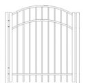 Picture of S4 Saybrook Arched Walk Gate Drawing