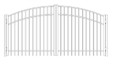Picture of S4 Saybrook Greenwich Arched Double Gates Drawing