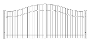 Picture of S4 Saybrook Woodbridge Arched Double Gates Drawing