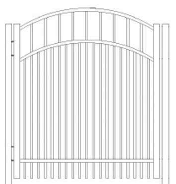 Picture of S7 Horizon Arched Walk Gate Drawing