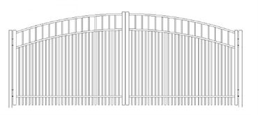 Picture of S7 Horizon Greenwich Arched Double Gates Drawing