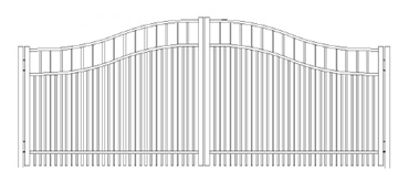Picture of S7 Horizon Woodbridge Arched Double Gates Drawing