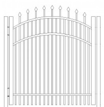Picture of S8 Falcon Arched Walk Gate Drawing