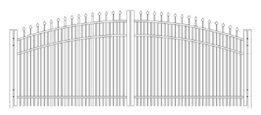 Picture of S8 Falcon Greenwich Arched Double Gates Drawing