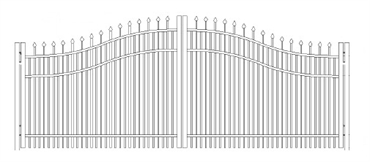 Picture of S8 Falcon Woodbridge Arched Double Gates Drawing
