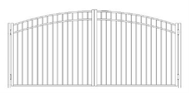 Picture of S9 Storrs Greenwich Arched Double Gates Drawing