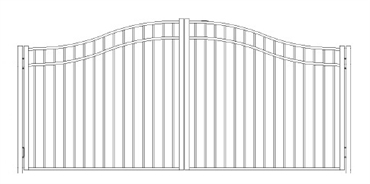 Picture of S9 Storrs Woodbridge Arched Double Gates Drawing