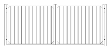 Picture of S10 Derby Double Gates Drawing