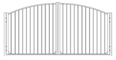 Picture of S10 Derby Greenwich Arched Double Gates Drawing