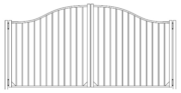 Picture of S10 Derby Woodbridge Arched Double Gates Drawing