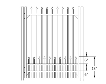 Picture of S1 Bennington with Doggie Panel Walk Gate Drawing