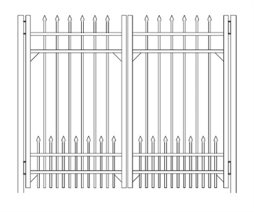 Picture of S1 Bennington with Doggie Panel Double Gate Drawing