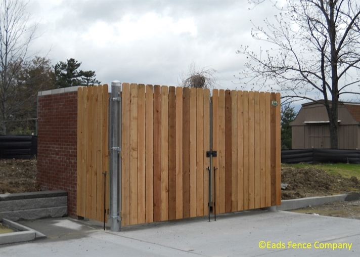 Ohio Fence Company Eads Fence Co Dumpster Enclosures