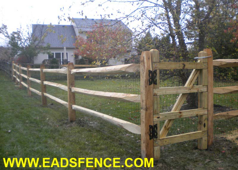 Split rail wood fence gate Driveway Gate Picture Of Split Rail Gate Options Photo Gallery Eads Fence Ohio Fence Company Eads Fence Co Split Rail Gate Options Photo