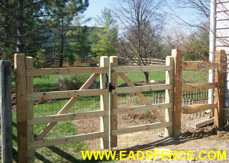 Ohio Fence Company Eads Fence Co Split Rail Gate
