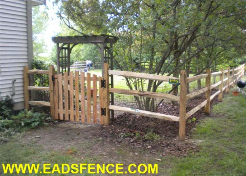 Ohio Fence Company Eads Fence Co Split Rail Gate