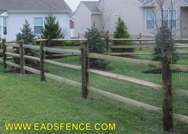Picture of Treated Split Rail Photo Gallery